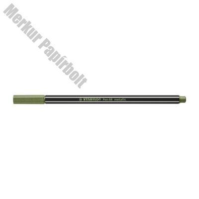 Filctoll STABILO Pen 68 metallic világoszöld