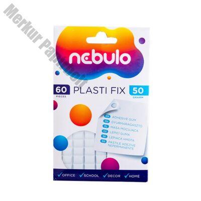 Gyurmaragasztó NEBULO Plasti Fix fehér 60 kocka/csomag