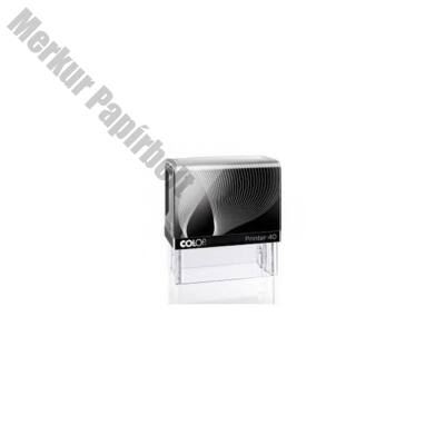 Bélyegző COLOP Printer IQ40 fekete ház kék párna