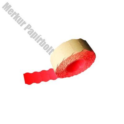 Árazószalag FORTUNA 32x19mm perforált piros 10 tekercs/csomag