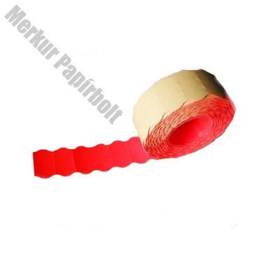Árazószalag FORTUNA 26x12mm perforált piros 10 tekercs/csomag