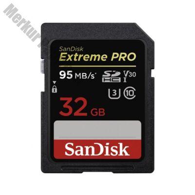 Memóriakártya SANDISK SDHC Extreme PRO U3 V30 32 GB