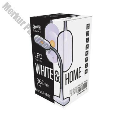 Asztali lámpa EMOS HT6105 Home LED 6W fém fehér