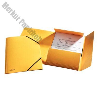 Gumis mappa ESSELTE luxus karton sárga