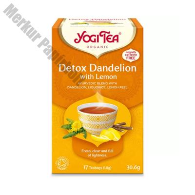 Bio tea YOGI TEA Tisztító méregtelenítő citrommal és gyermekláncfűvel 17 filter/doboz