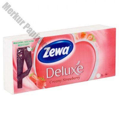 Papírzsebkendő ZEWA Deluxe 3 rétegű 90 db-os Epres