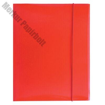 Gumis mappa OPTIMA A/4 piros 600gr