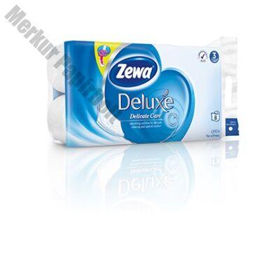 Toalettpapír ZEWA Deluxe 3 rétegű 8 tekercses Pure White