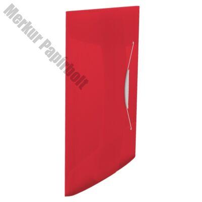 Gumis mappa ESSELTE Vivida A/4 műanyag piros