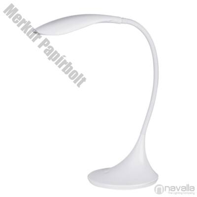 Asztali lámpa RÁBALUX Dominic 4166 LED 4,5W műanyag fehér