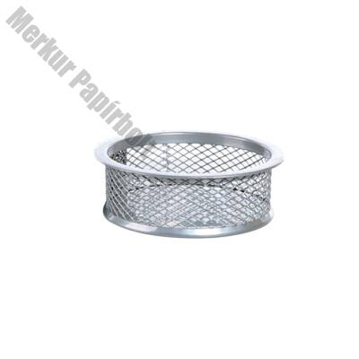 Gemkapocs tartó fémhálós ezüst