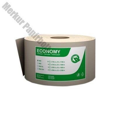 Toalettpapír FORTUNA Economy Jumbo mini 19cm 145m 1 rétegű natúr 12/csom