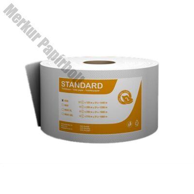 Toalettpapír FORTUNA Standard Jumbo mini 19cm 120m 2 rétegű fehér 12/csom
