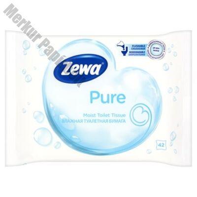 Nedves toalettpapír ZEWA 42db-os Pure
