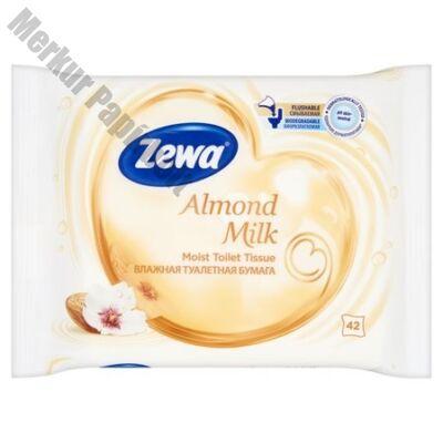 Nedves toalettpapír ZEWA 42db-os Almond Milk
