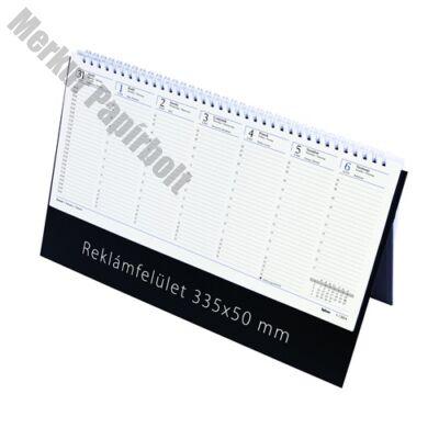 Asztali naptár kép nélküli Toptimer C051 álló sárga lapos kék 2019.