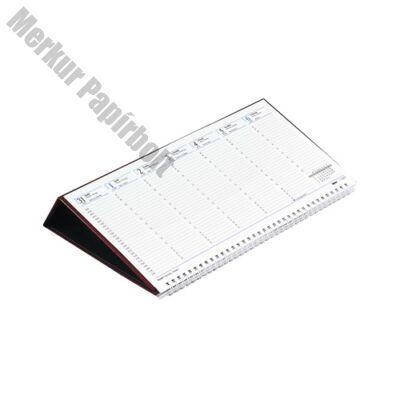 Asztali naptár kép nélküli Toptimer T050 fekvő fehér lapos fekete 2019.