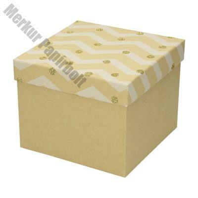Ajándékdoboz karácsonyi Kraft L 22x22x16 arany