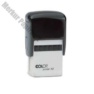 Bélyegző COLOP Printer 52 fekete ház fekete párna