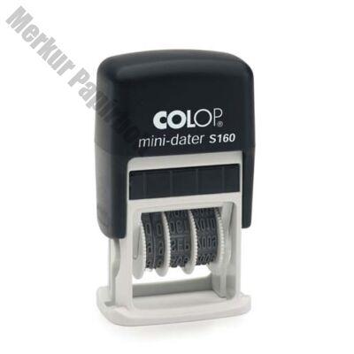 Bélyegző dátum COLOP Printer S160 fekete ház fekete párna