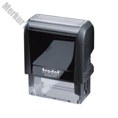 Bélyegző TRODAT Printy 4.0 4912 eco-fekete ház fekete párna