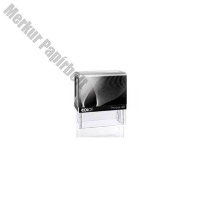 Bélyegző COLOP Printer IQ40 fekete ház lila párna