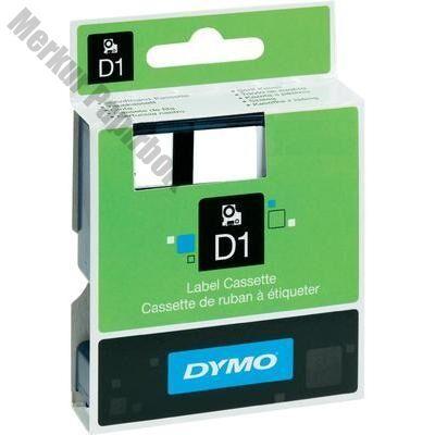 Feliratozó szalag DYMO D1 45017 12mmx7m piroson fekete