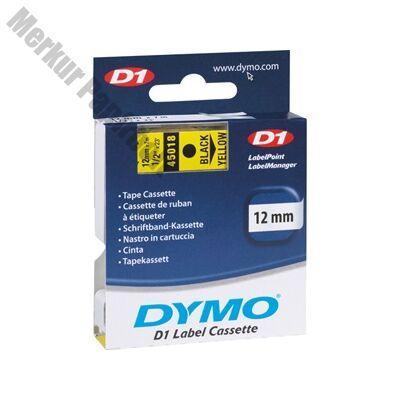 Feliratozóg szalag DYMO D1 45018 12mmx7m sárgán fekete