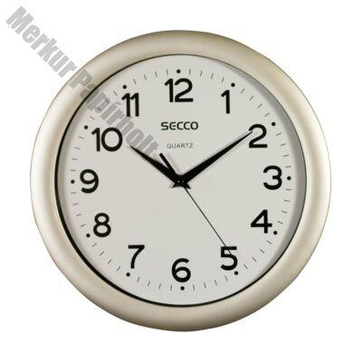 Fali óra SECCO S TS6026-57 Sweep Second 30cm ezüst színű keret