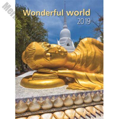 Falinaptár Toptimer T093 310x420mm álló Wonderful World 2019.