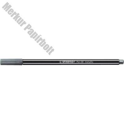 Filctoll Stabilo Pen 68 M metallic ezüst