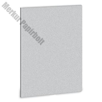 Füzet ARS UNA A/5 40 lapos extra kapcsos vonalas glitter ezüst