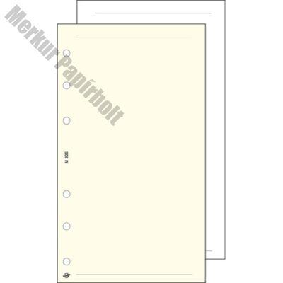 Gyűrűs kalendárium betét Saturnus S325/F üres jegyzetlap fehér lapos