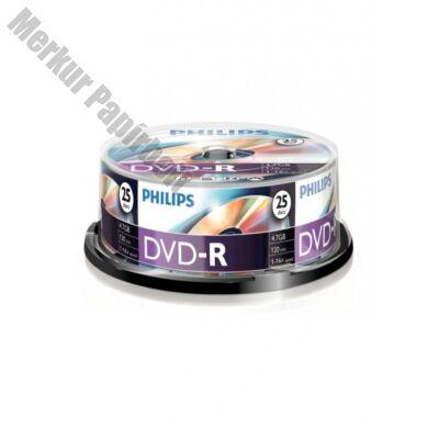 ÍRHATÓ DVD-R PHILIPS 4,7GB 16X PAPÍRTOKOS