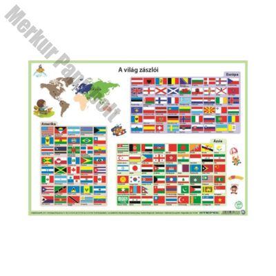 Íróalj STIEFEL A/3 világ zászlói