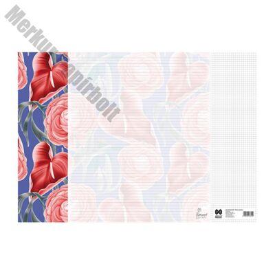 Könyöklő Flower Garden 14 lapos bianco 590x410mm Celandine