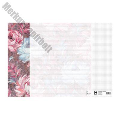 Könyöklő Flower Garden 14 lapos bianco 590x410mm Fantasy