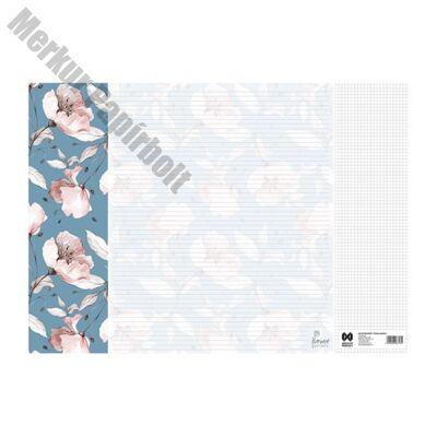 Könyöklő Flower Garden 14 lapos bianco 590x410mm Melody