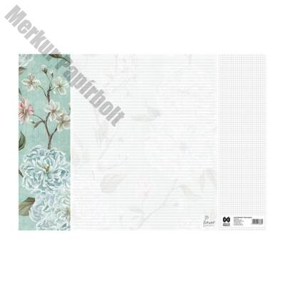 Könyöklő Flower Garden 14 lapos bianco 590x410mm White princess