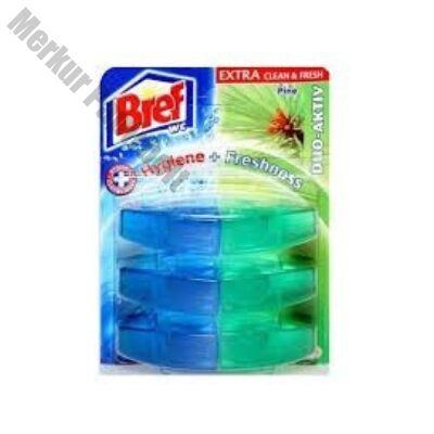 Toalett tisztító sé frissítő utántöltő BREF Duo Aktív 3 darabos pine
