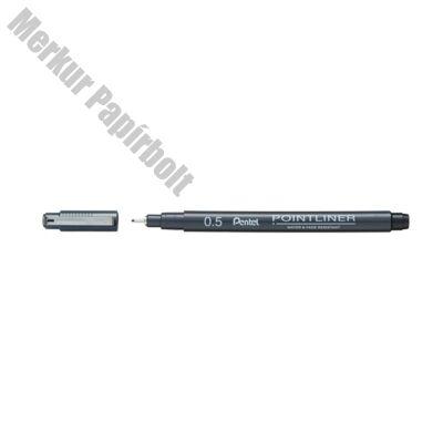 Tűfilc PENTEL Pointliner 0,5 mm fekete